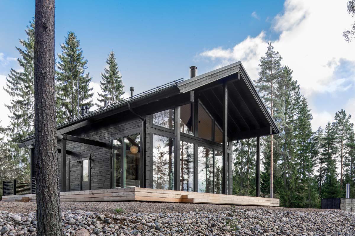 Sanjske finske hiške iz lesa