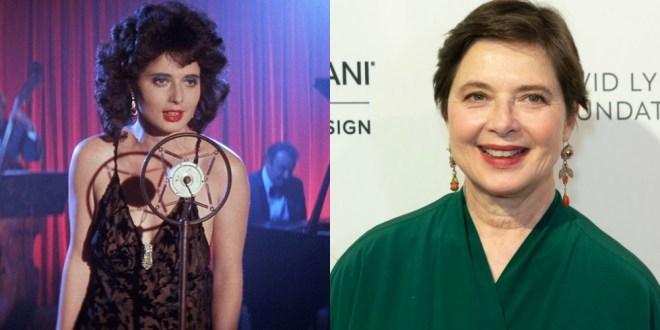 Isabella Rossellini v filmu Modri žamet (1986) in 2018, stara 66 let.