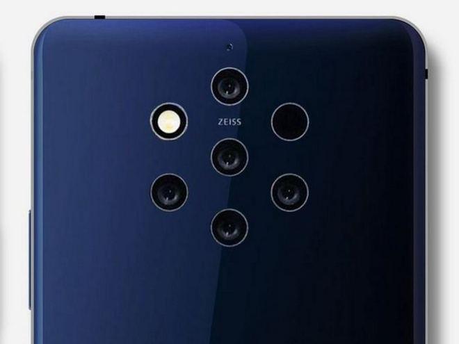 5 zadnjih kamer pametnega telefona Nokia 9 PureView