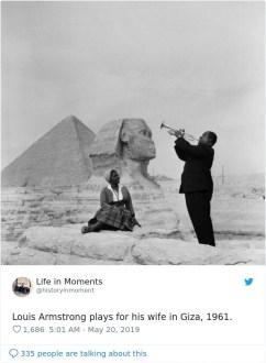 Louis Armstrong igra svoji ženi v Gizi, 1961.