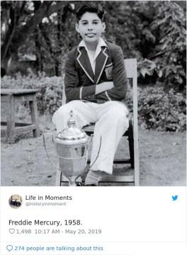 Freddie Mercury, 1958.