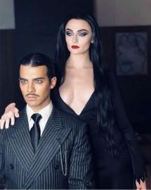 Morticia in Gomez Addams iz filma/serije The Addams Family