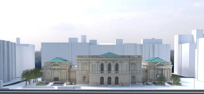 Albertina modern na Dunaju
