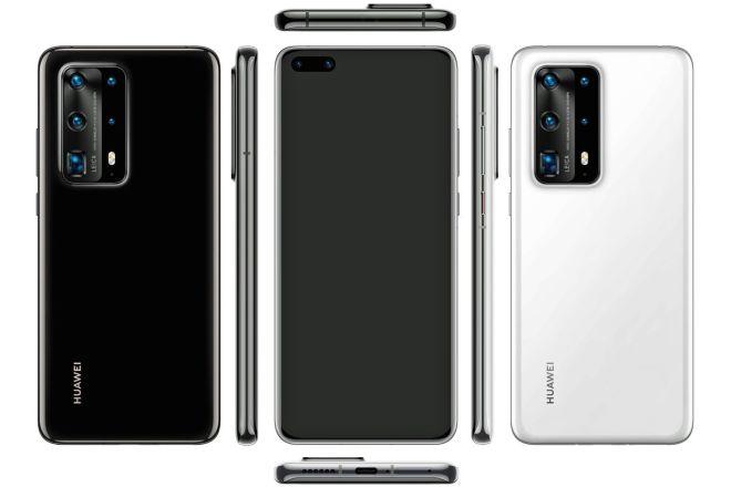 Potencialni izgled pametnega telefona Huawei P40 Pro