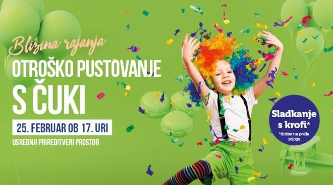 Otroško pustovanje s Čuki v Europarku 2020