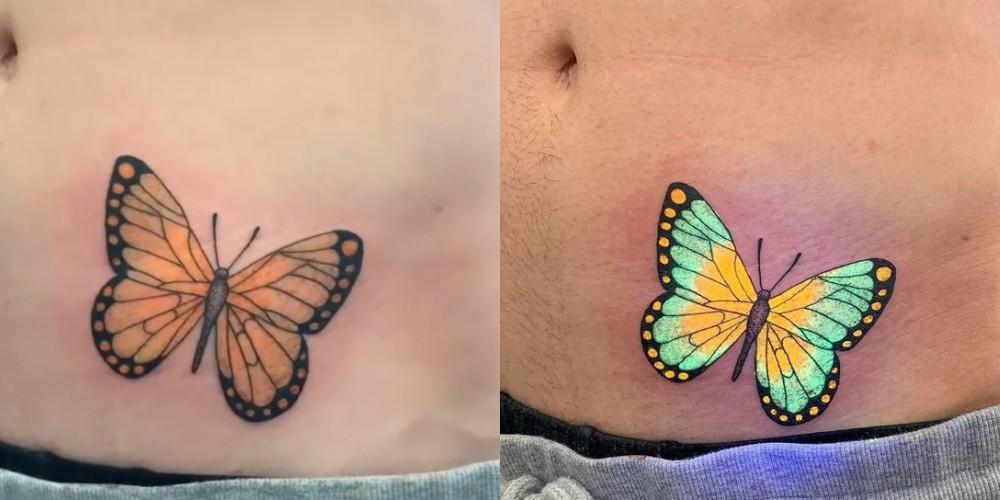 Čarobni tatuji, ki oživijo pod UV-svetlobo