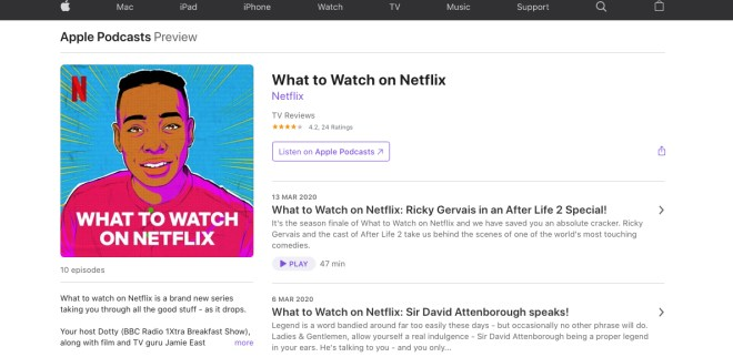 Podcast What To Watch on Netflix