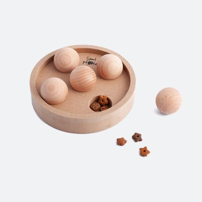 Interaktivna lesena igrača za mačke