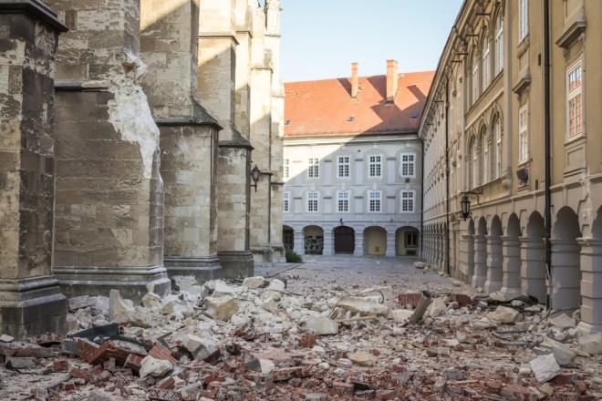 Potres v Zagrebu.