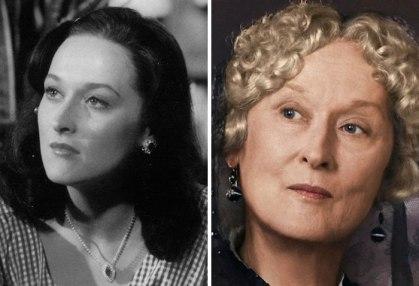 Meryl Streep v filmu Julija (1977) in v Čas deklištva (2109).