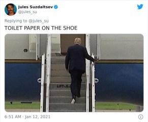 Toaletni papir na čevlju