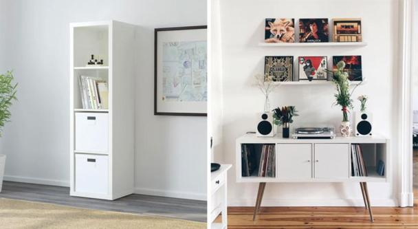 Regal IKEA Kallax spremenjen v komodo iz 50. let prejšnjega stoletja Foto: Boredpanda