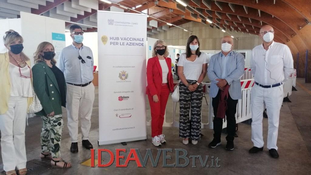 saluzzo:-inaugurata-la-parte-aziendale-dell'hub-vaccinale-(video-e-foto)