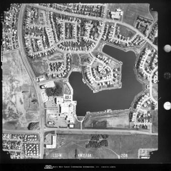 EA-800, City of Edmonton Archives. 1984, line 33, shot 208. North West Survey Corporation.