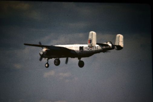 B25, one of the planes flown by Owen. Research by Lech Lebiedowski, source of photographs Alberta Aviation Museum and 418 Squadron Archives