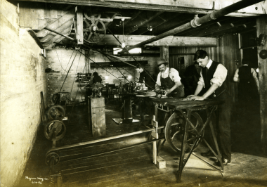 At work at the Douglas Printing Company Photo courtesy of the Burke Group