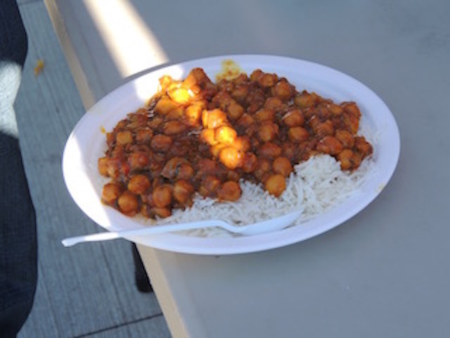 A plate of food served at the Seva Food Truck. Photograph by Amrita Gill 2015.