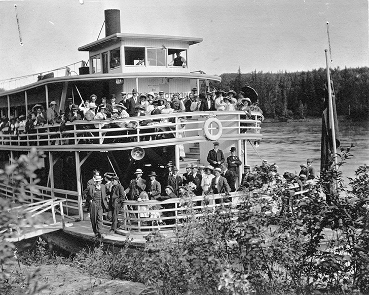 Steamer - Excursion to Big Island. Description: Transportation - Steamer (City of Edmonton). Image courtesy of City of Edmonton Archives EA-10-1322.