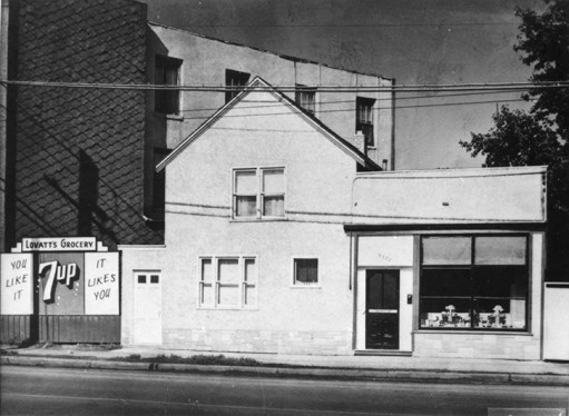 Lovatt's Grocery, c. 1950. Photo courtesy of City of Edmonton Archives EA-10-2294.