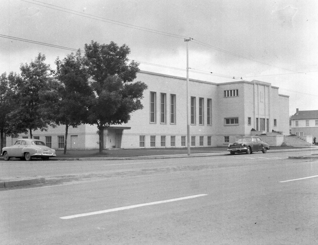 Beth Shalom Synagogue April 24, 1952. Image courtesy of the City of Edmonton Archives.