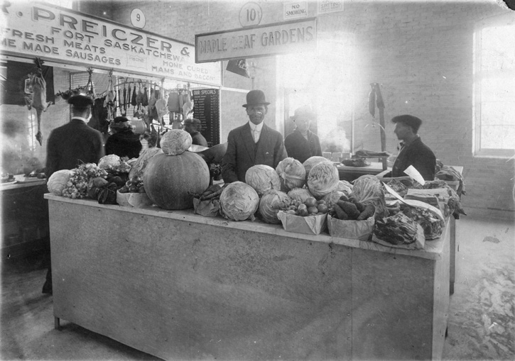 City Market Stall. City of Edmonton Archives, EA-10-660.