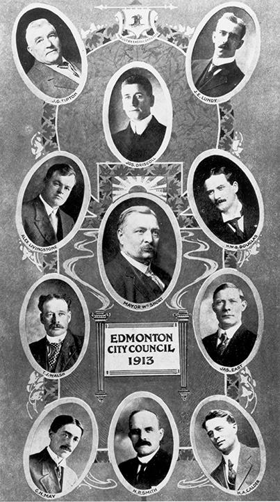 Edmonton City Council 1913. Image courtesy of the City of Edmonton Archives EA-267-169.