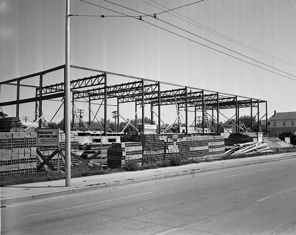 Beth Shalom Synagogue under construction. July 24, 1950. Image courtesy of the City of Edmonton Archives EA-600-4707.
