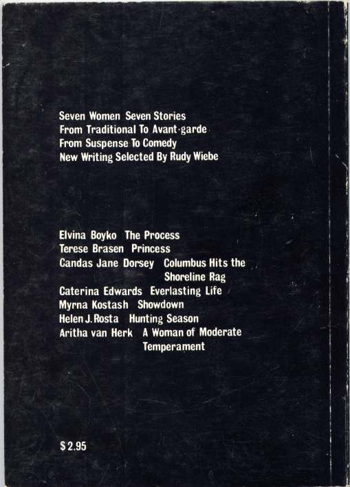 "Back cover of ""Getting Here"" c 1977. Image courtesy of NeWest Press, do not reproduce."