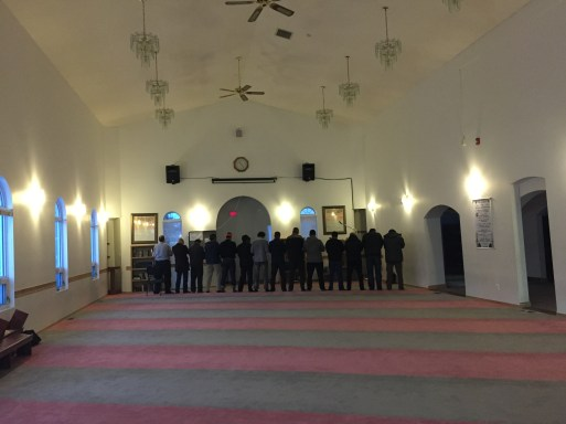 Interior, Muslim Community of Edmonton Mosque in Garneau. Photo by Umar Akbar.