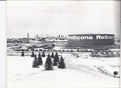 Strathcona Refinery. Glenbow Archives, Imperial Oil Collections, unaccessioned, permission given to Adriana A. Davies to scan them from a booklet in her possession and for the Edmonton Heritage Council to publish. Do Not Reproduce.