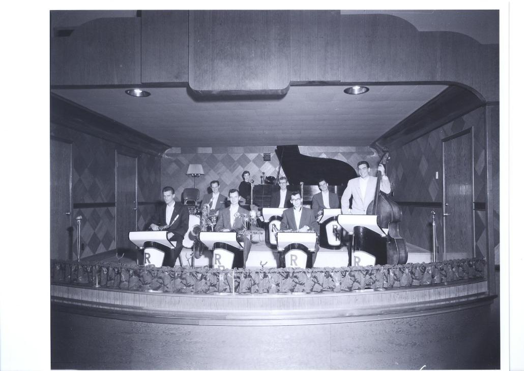 Rainbow Ballroom bandstand, 1960s. Courtesy of the Horst Urbaniak Collection.