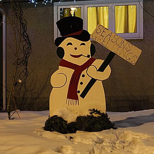 """Season's Greetings Christmas decorations in Candy Cane Lane, Edmonton"" Photo by Flickr user Vinay Bavdekar © December 25, 2013 Creative Commons License - https://flic.kr/p/iANwJu"