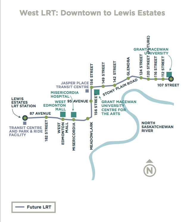 Future LRT Expansion. Via City of Edmonton.