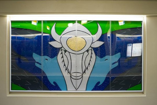 Grandin Mural by Aaron Paquette. Photo via City of Edmonton.