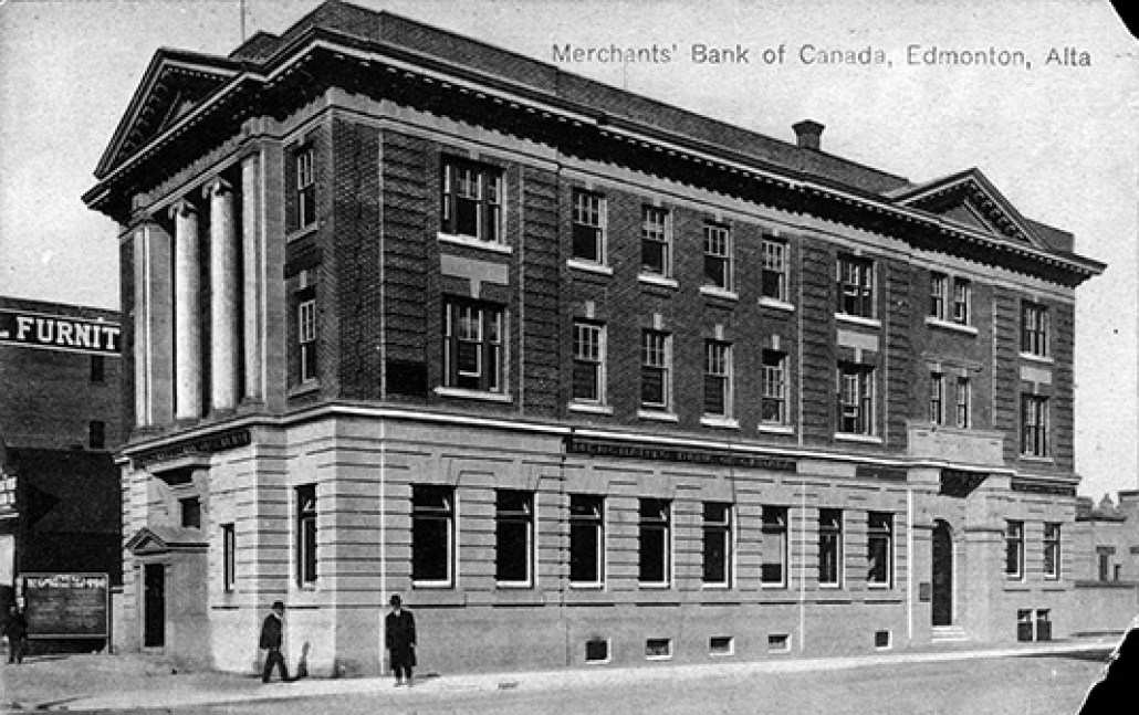 Merchants Bank of Canada, circa 1910. City of Edmonton Archives, EA-50-13