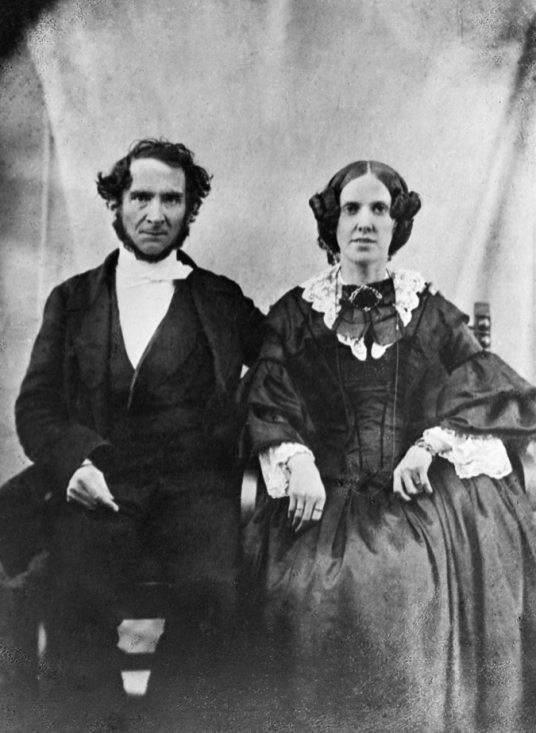 Reverend Robert T. Rundle, Methodist missionary, and wife ca. 1860s. Photo courtesy of the Glenbow Museum Archives na-659-43.