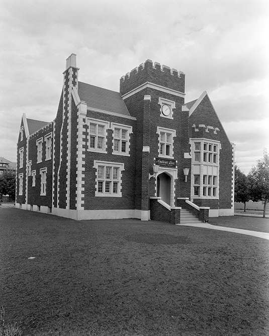 One of Andrews Brothers funeral chapels, Edmonton, Alberta circa 1932. Image courtesy of the Glenbow Archives ND-3-6194.