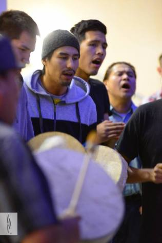 Drummers and singers perform at the RiSE Round Dance. Photo from RiSE Round Dance at City Hall. Photos courtesy of Gibby Davis Photography.