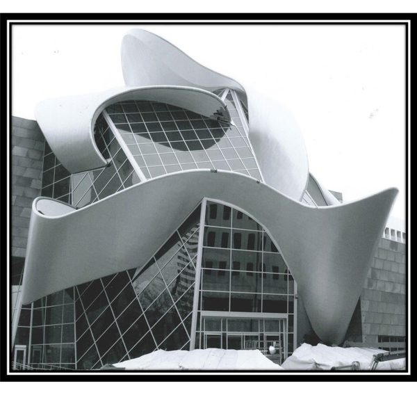 The Art Gallery of Alberta. Local 720 Iron Workers contributed to the construction of this iconic building, completed in 2010. Image courtesy of the Local 720 Iron Worker's Union, do not reproduce.