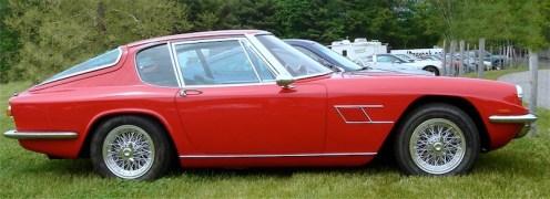 A 1968 Maserati Mistral.