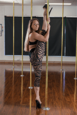 Pole dancing title organiser Jenny Hayes. Photo by Andrew Finch