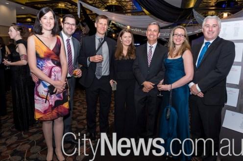 Helen and Thomas Watson, Ian McLeod, Jennifer Waardenburg, Leader of the Opposition Jeremy Hanson and Katrina and James Milligan