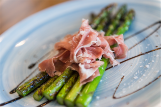 Asparagus with prosciutto. Photo by Andrew Finch
