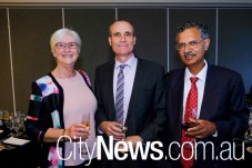 Helen Swift, Barry Sandison and Baldev Bedi