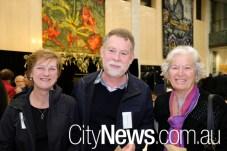 Sharon and David van Baalen with Pat Dickson