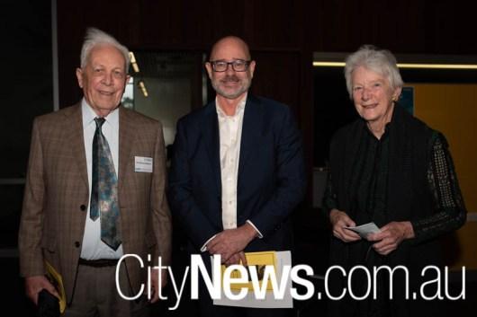 Brian Robson, Robert Fitzgerald and Joan Robson