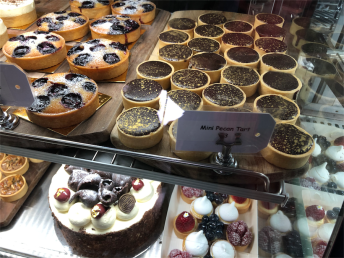 The handmade pastries, macarons and chocolates lined in rows. Photo: Wendy Johnson