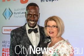 Deng Adut and Kellie Sydlarczuk