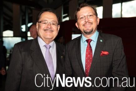 Costa Rican ambassador Armando Vargas and Heinz Heimann
