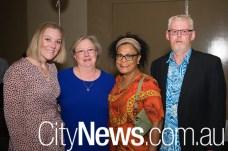 Catherine Jackson, Sue Barnetson with Diana and Greg Jahnston